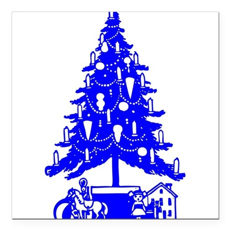"Christmas_Tree2c.png Square Car Magnet 3"" x 3"""