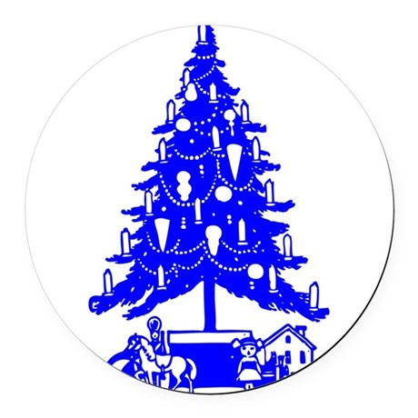 Christmas_Tree2c.png Round Car Magnet