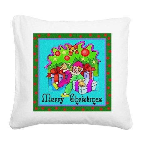 clown1.png Square Canvas Pillow