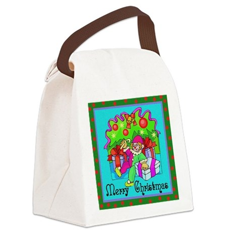 clown1.png Canvas Lunch Bag