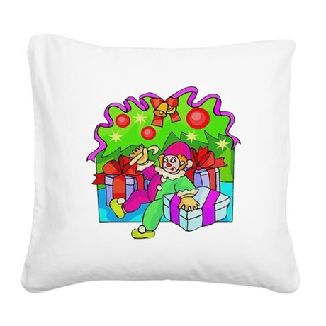 clown.png Square Canvas Pillow