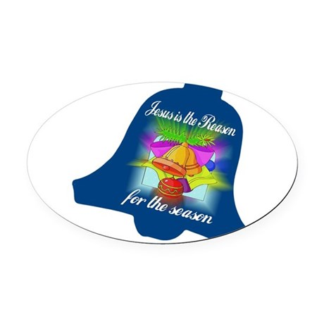 jesusreasoncd.jpg Oval Car Magnet