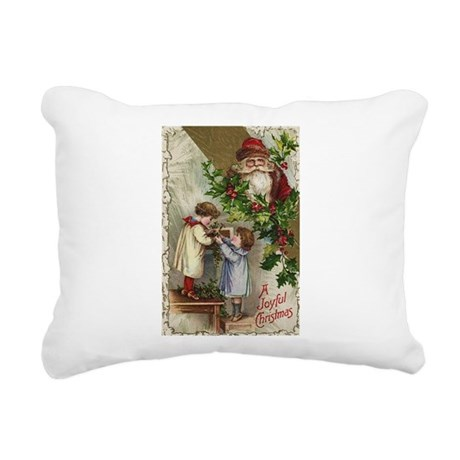 santa2a.png Rectangular Canvas Pillow