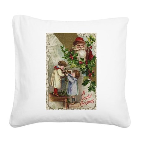 santa2a.png Square Canvas Pillow