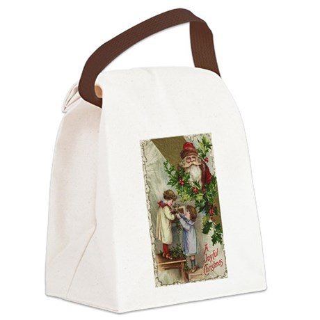 santa2a.png Canvas Lunch Bag