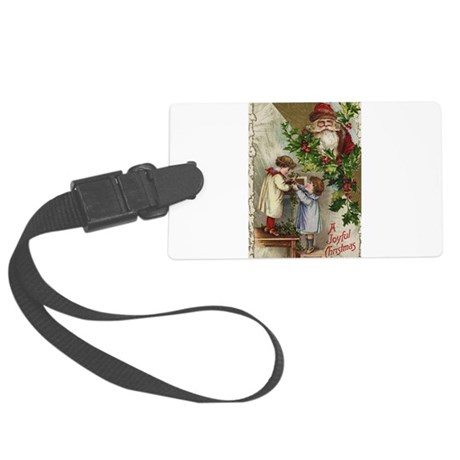 santa2a.png Large Luggage Tag