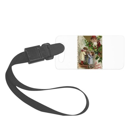 santa2a.png Small Luggage Tag