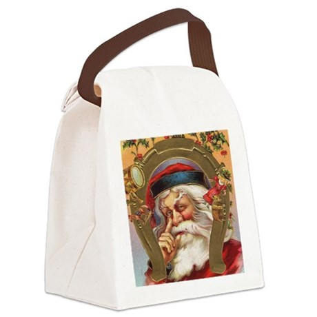santa3a.png Canvas Lunch Bag