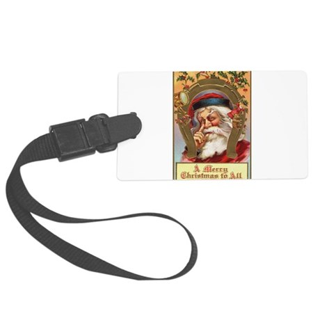 santa3a.png Large Luggage Tag