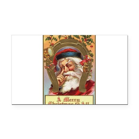 santa3a.png Rectangle Car Magnet