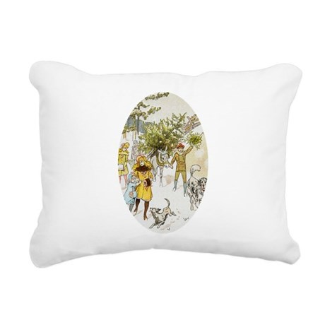 christmastree2a.png Rectangular Canvas Pillow