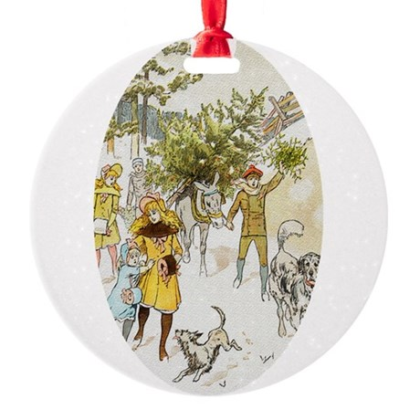 christmastree2a.png Round Ornament