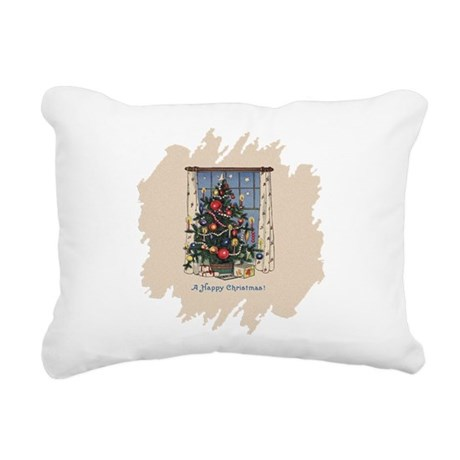 Happy Christmas.png Rectangular Canvas Pillow