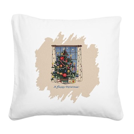 Happy Christmas.png Square Canvas Pillow
