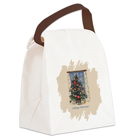 Happy Christmas.png Canvas Lunch Bag