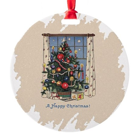 Happy Christmas.png Round Ornament