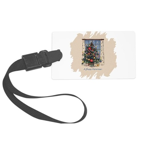 Happy Christmas.png Large Luggage Tag