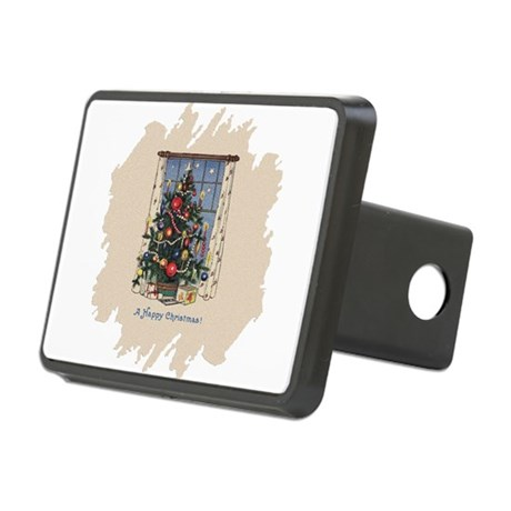 Happy Christmas.png Rectangular Hitch Cover