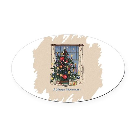 Happy Christmas.png Oval Car Magnet