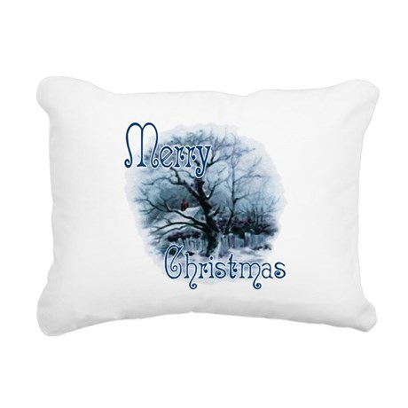 winterscene2c.png Rectangular Canvas Pillow