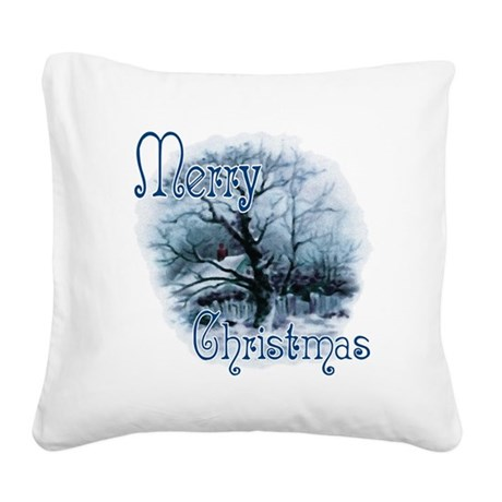 winterscene2c.png Square Canvas Pillow