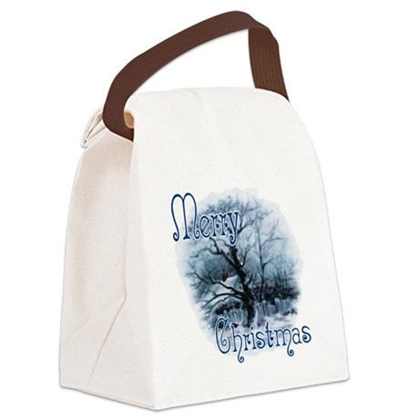winterscene2c.png Canvas Lunch Bag