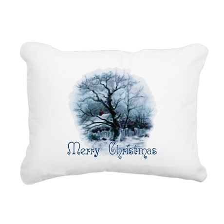 winterscene2a.png Rectangular Canvas Pillow
