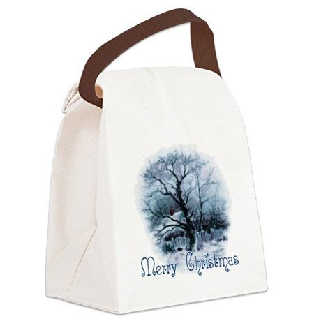 winterscene2a.png Canvas Lunch Bag