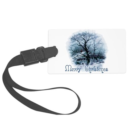 winterscene2a.png Large Luggage Tag