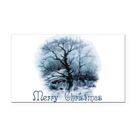 winterscene2a.png Rectangle Car Magnet