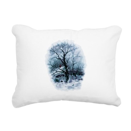 winterscene2.png Rectangular Canvas Pillow