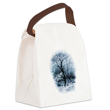 winterscene2.png Canvas Lunch Bag