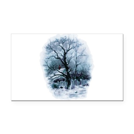 winterscene2.png Rectangle Car Magnet