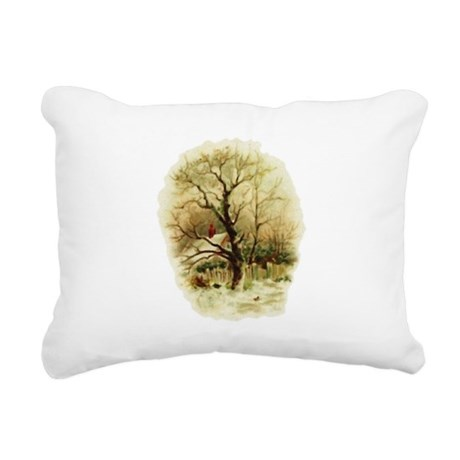 winterscene.png Rectangular Canvas Pillow