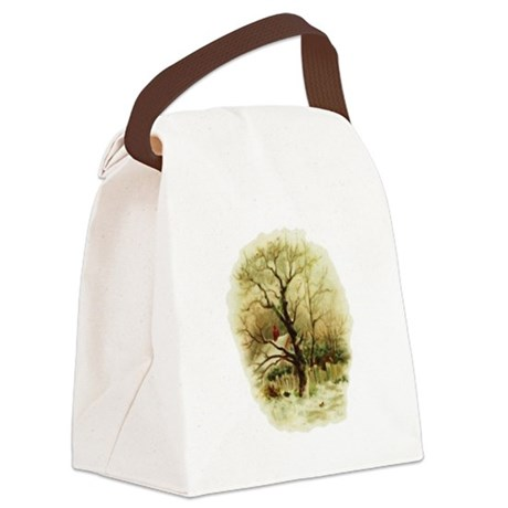 winterscene.png Canvas Lunch Bag