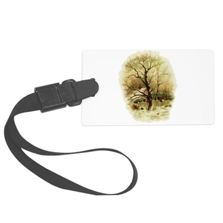 winterscene.png Large Luggage Tag