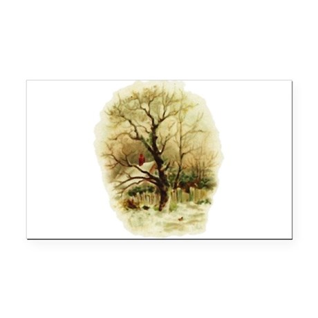 winterscene.png Rectangle Car Magnet