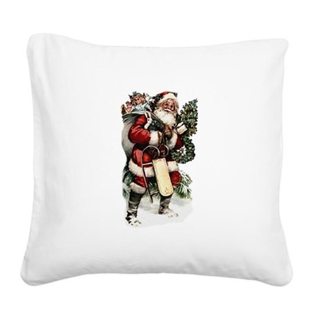 santa.png Square Canvas Pillow
