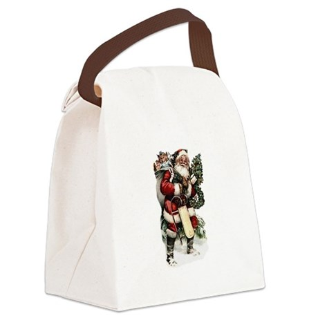 santa.png Canvas Lunch Bag