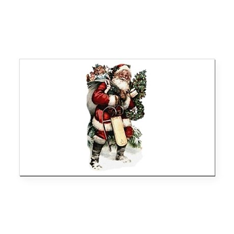 santa.png Rectangle Car Magnet
