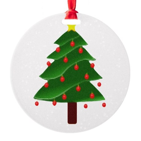 tree.png Round Ornament