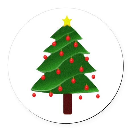 tree.png Round Car Magnet