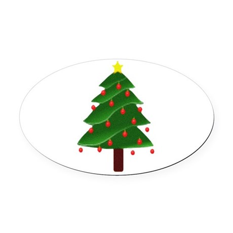 tree.png Oval Car Magnet