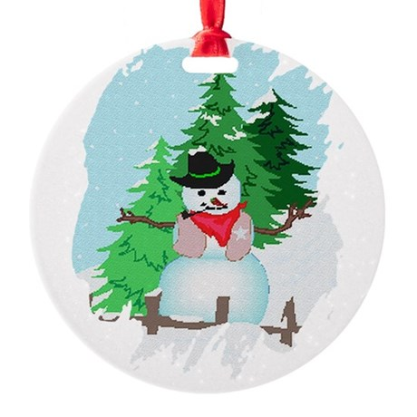 snow9.PNG Round Ornament
