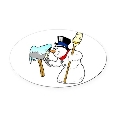 winterk5.PNG Oval Car Magnet