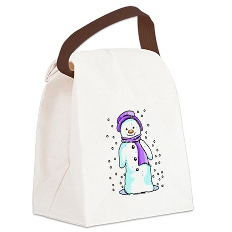3-snow10.PNG Canvas Lunch Bag