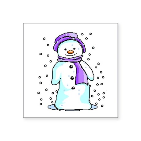 "3-snow10.PNG Square Sticker 3"" x 3"""