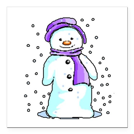 "3-snow10.PNG Square Car Magnet 3"" x 3"""