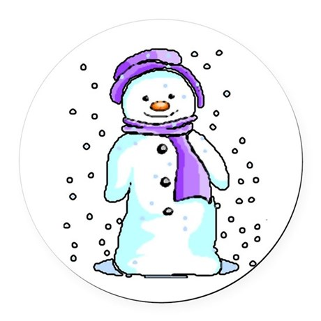 3-snow10.PNG Round Car Magnet