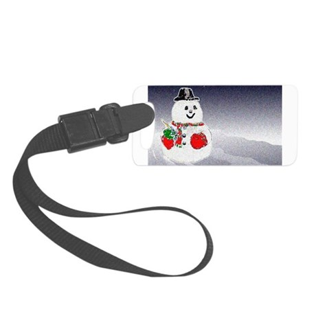 Snowman Small Luggage Tag